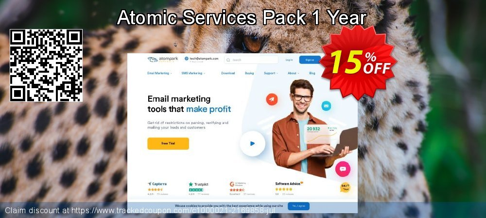 Atomic Services Pack 1 Year coupon on Back to School promo offering sales