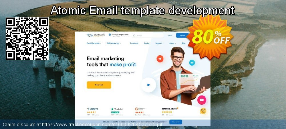 Get 100% OFF Atomic Email template development offering sales