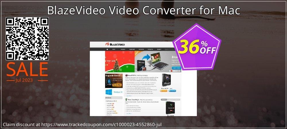 Get 34% OFF BlazeVideo Video Converter for Mac discount