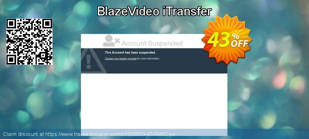 BlazeVideo iTransfer coupon on July 4th discounts