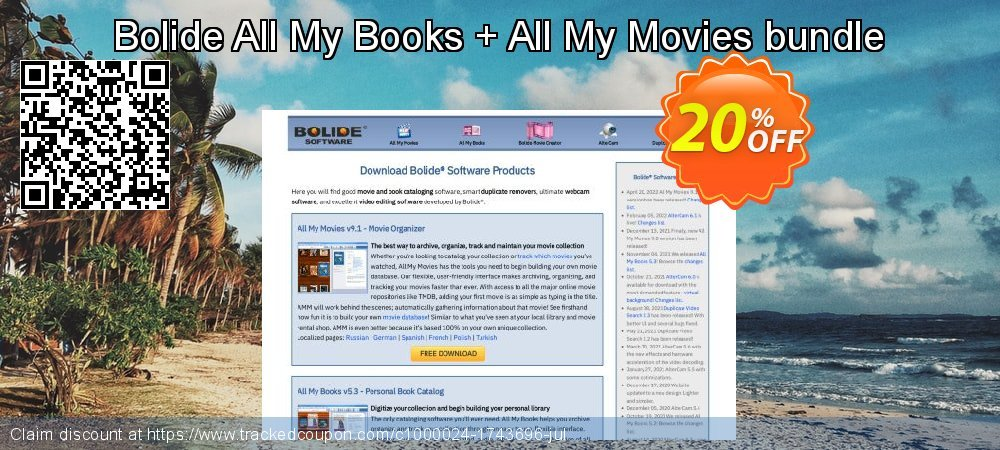 Get 20% OFF Bolide All My Books + All My Movies bundle offering discount