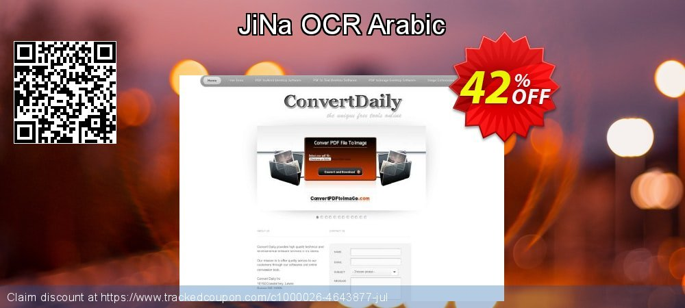 Get 40% OFF JiNa OCR Arabic offer