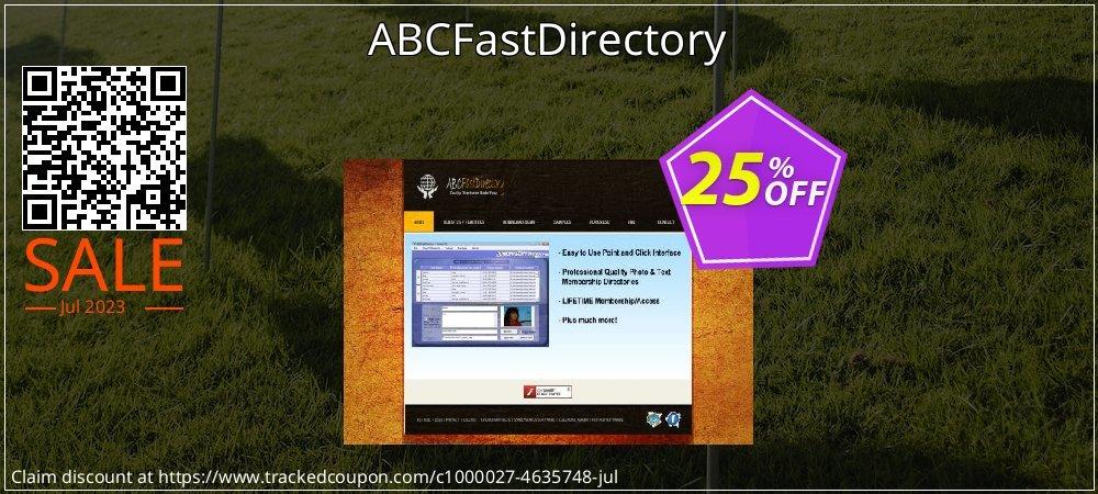 Get 25% OFF ABCFastDirectory discount