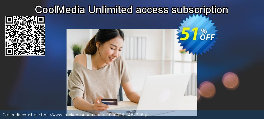 Get 40% OFF CoolMedia Unlimited access subscription offering sales