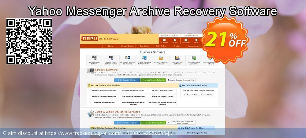 Yahoo Messenger Archive Recovery Software coupon on Valentines Day discounts