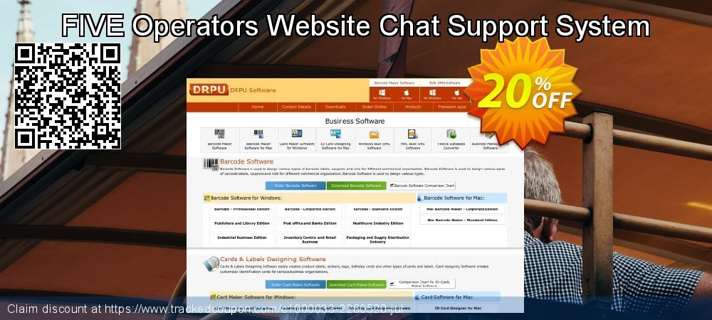 FIVE Operators Website Chat Support System coupon on April Fool's Day promotions