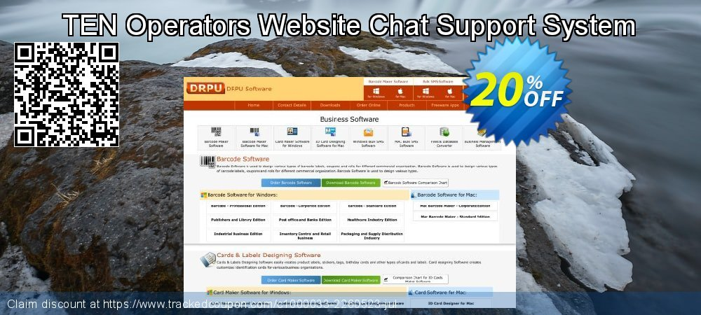 TEN Operators Website Chat Support System coupon on Spring offer