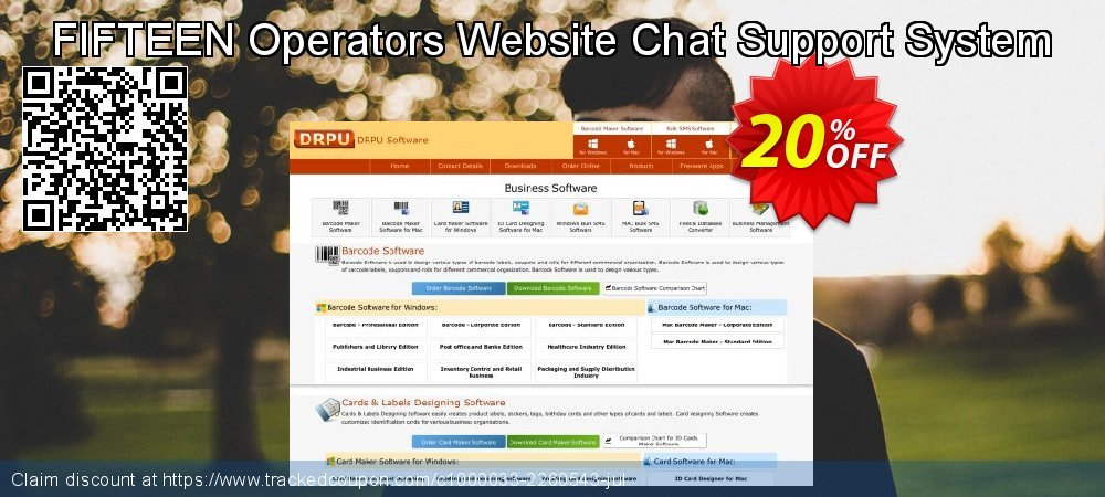 FIFTEEN Operators Website Chat Support System coupon on Spring offering discount