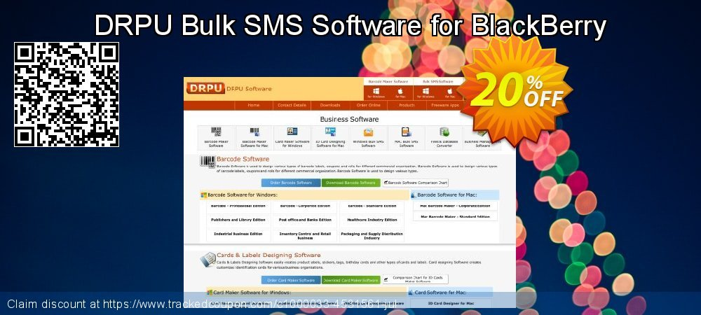 DRPU Bulk SMS Software for BlackBerry coupon on Easter Sunday discounts