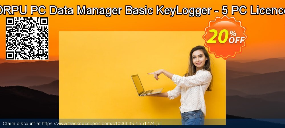 DRPU PC Data Manager Basic KeyLogger - 5 PC Licence coupon on April Fool's Day deals