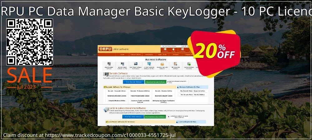 DRPU PC Data Manager Basic KeyLogger - 10 PC Licence coupon on Easter Sunday offer