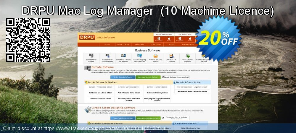 DRPU Mac Log Manager  - 10 Machine Licence  coupon on April Fool's Day offering sales