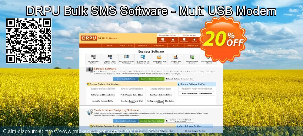 DRPU Bulk SMS Software - Multi USB Modem coupon on Easter Sunday super sale