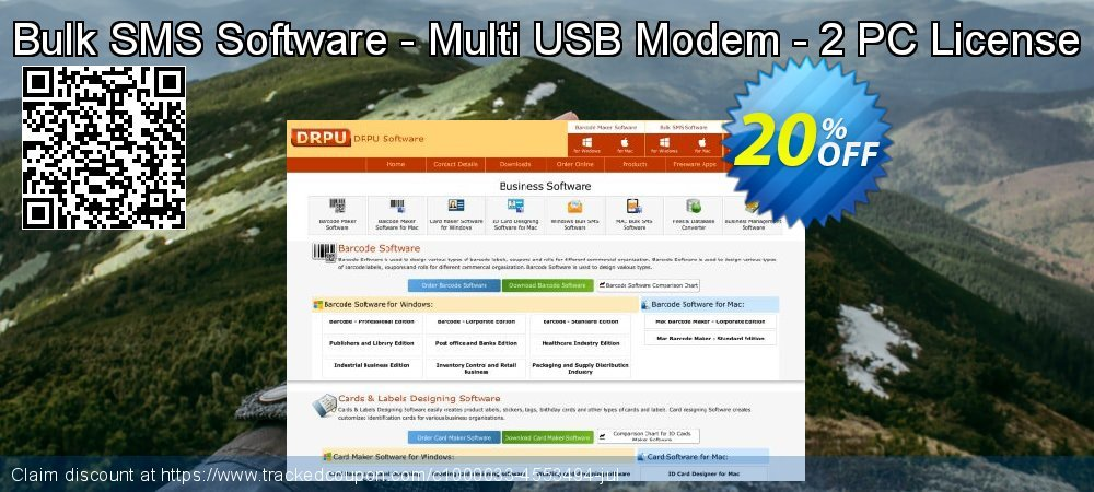 Bulk SMS Software - Multi USB Modem - 2 PC License coupon on Easter discounts