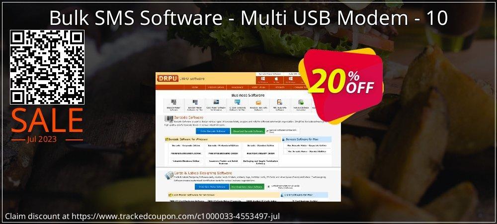 Bulk SMS Software - Multi USB Modem - 10 coupon on Easter Sunday deals