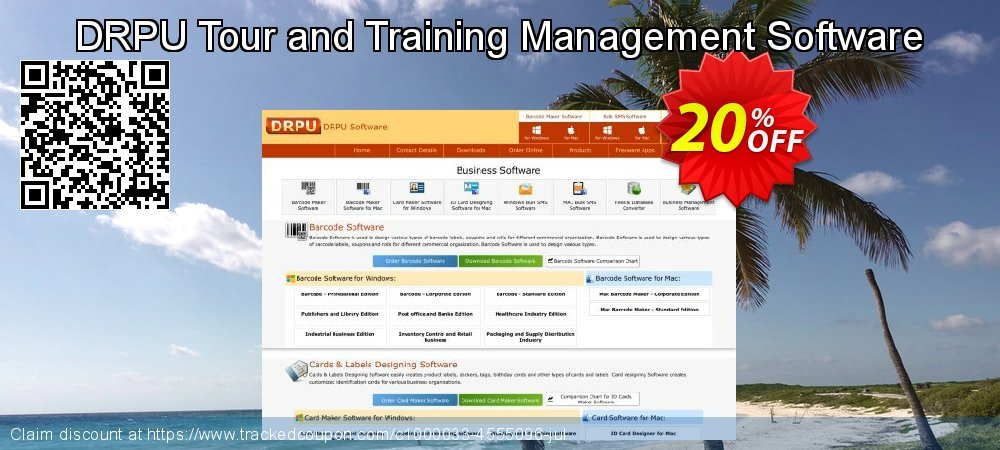 DRPU Tour and Training Management Software coupon on April Fool's Day discounts