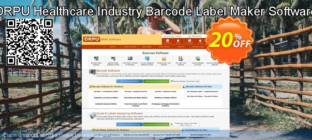 DRPU Healthcare Industry Barcode Label Maker Software coupon on Easter Sunday promotions