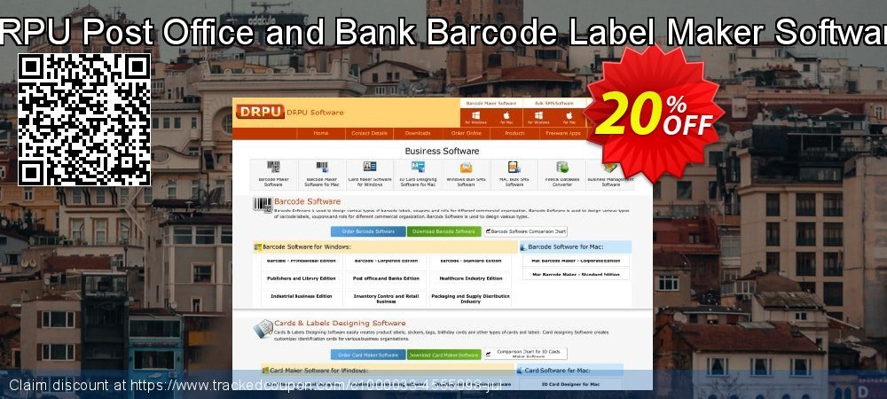 DRPU Post Office and Bank Barcode Label Maker Software coupon on Easter sales