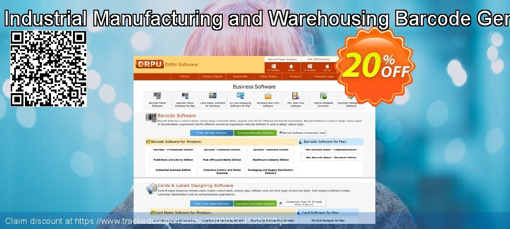 DRPU Industrial Manufacturing and Warehousing Barcode Generator coupon on April Fool's Day offer