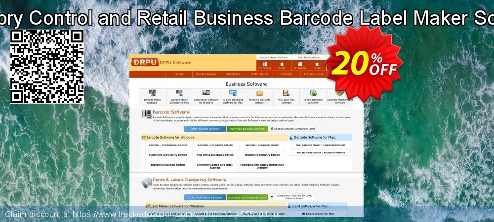 Get 20% OFF Inventory Control and Retail Business Barcode Label Maker Software offer
