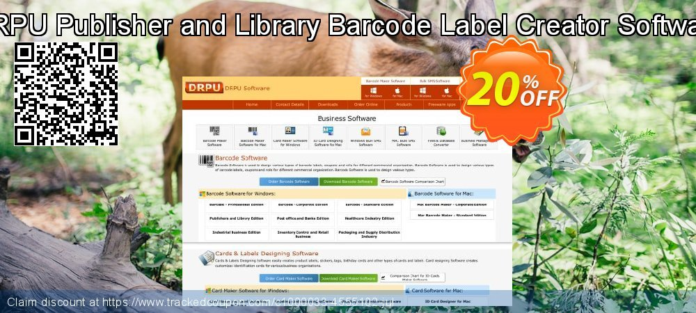DRPU Publisher and Library Barcode Label Creator Software coupon on Easter offering discount