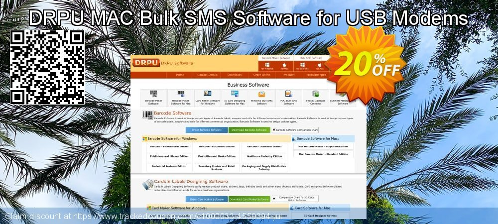 DRPU MAC Bulk SMS Software for USB Modems coupon on Easter discount