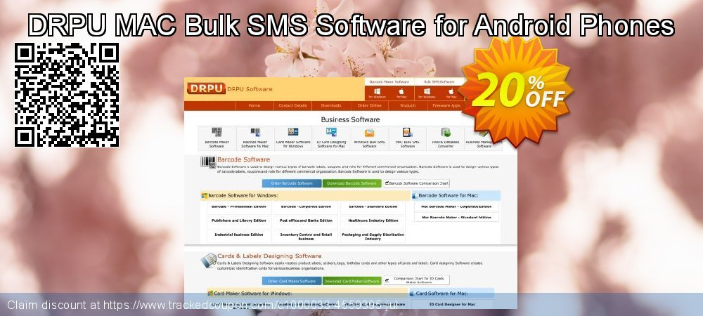 DRPU MAC Bulk SMS Software for Android Phones coupon on Spring offering discount