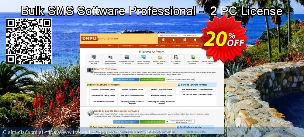 Bulk SMS Software Professional -  2 PC License coupon on Easter Sunday discounts