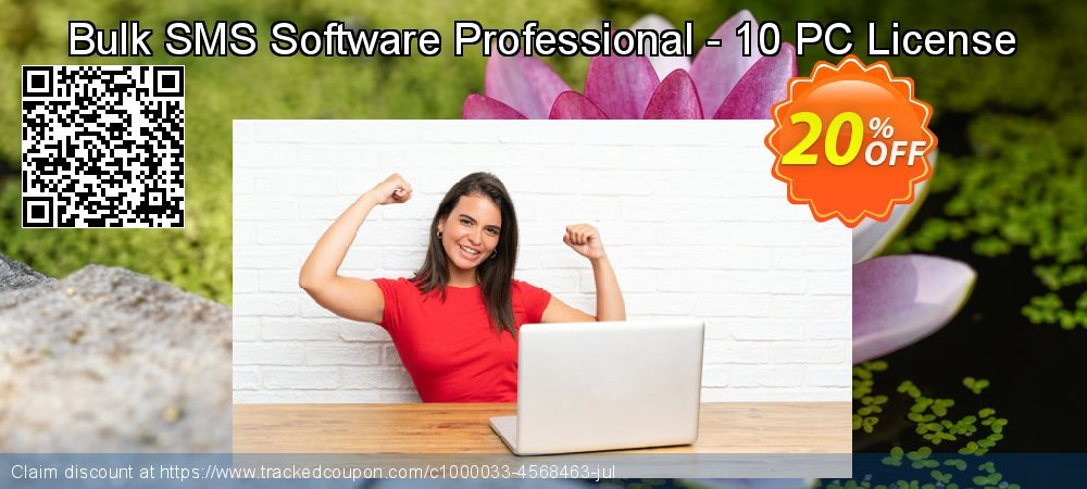 Bulk SMS Software Professional - 10 PC License coupon on Spring sales