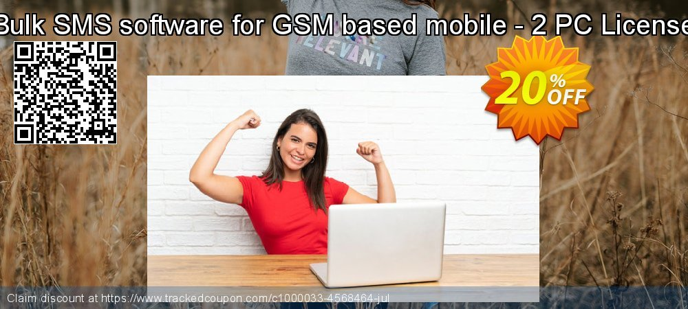 Bulk SMS software for GSM based mobile - 2 PC License coupon on April Fool's Day deals