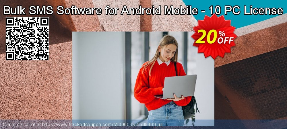 Bulk SMS Software for Android Mobile - 10 PC License coupon on Easter Sunday super sale