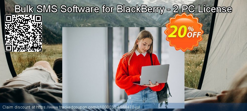 Bulk SMS Software for BlackBerry - 2 PC License coupon on Easter discounts
