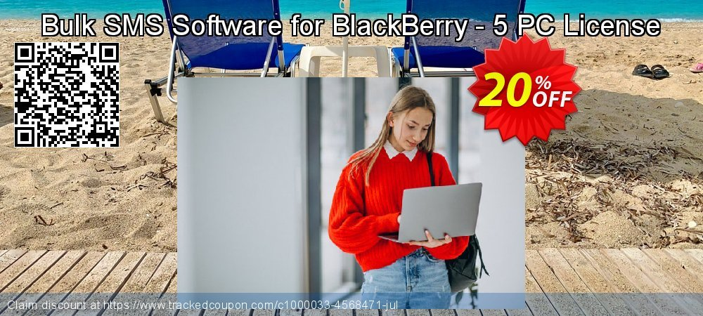 Bulk SMS Software for BlackBerry - 5 PC License coupon on Spring promotions