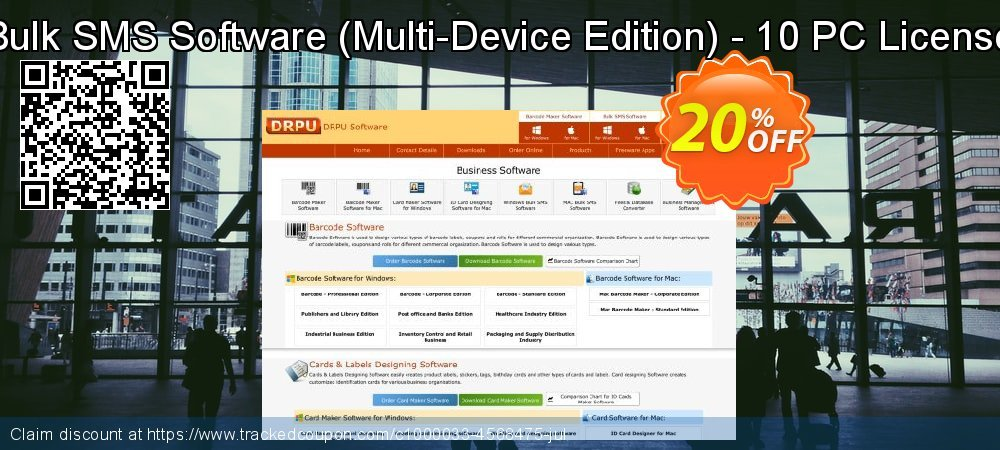 Bulk SMS Software - Multi-Device Edition - 10 PC License coupon on Spring discount