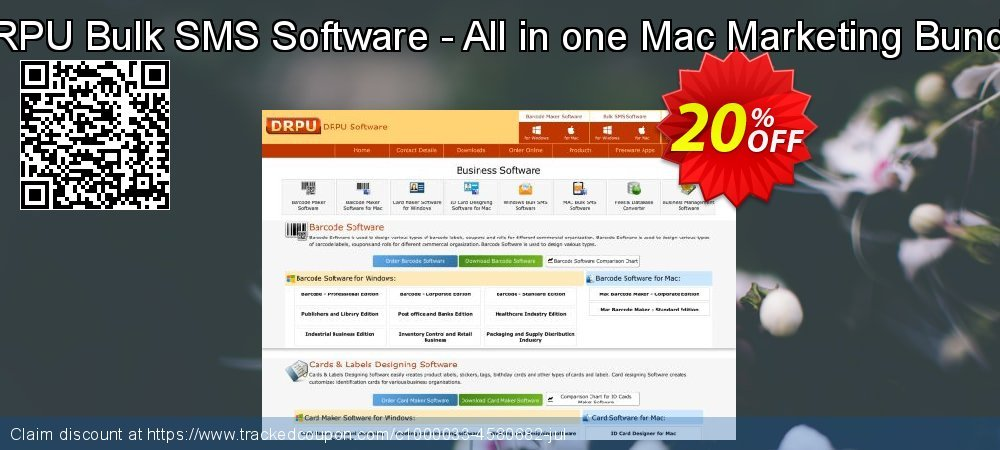 DRPU Bulk SMS Software - All in one Mac Marketing Bundle coupon on Easter super sale
