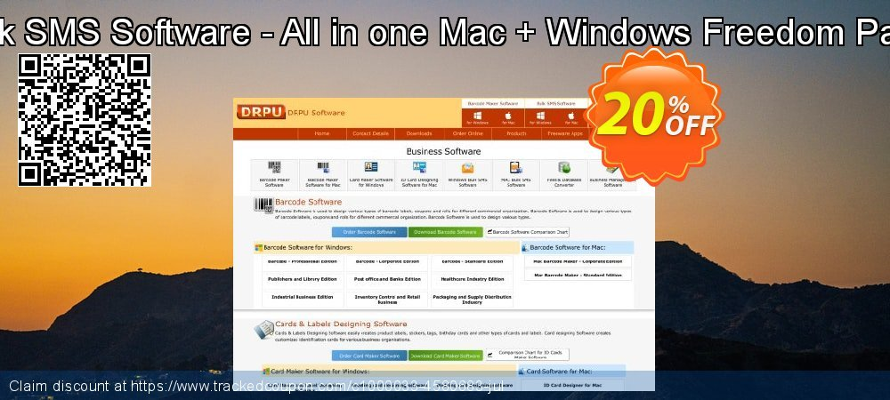 DRPU Bulk SMS Software - All in one Mac + Windows Freedom Pack Bundle coupon on Spring discounts
