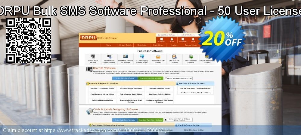 DRPU Bulk SMS Software Professional - 50 User License coupon on April Fool's Day discount