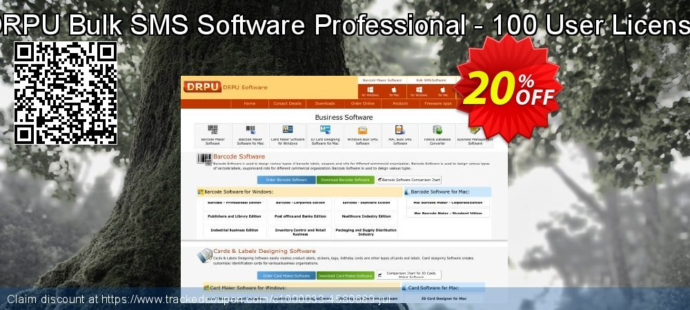 DRPU Bulk SMS Software Professional - 100 User License coupon on Easter Sunday offering discount