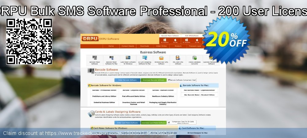 DRPU Bulk SMS Software Professional - 200 User License coupon on Easter offering sales