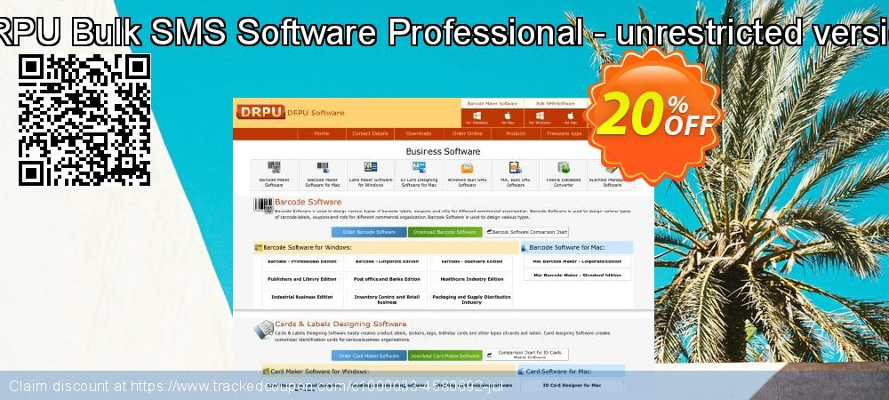 DRPU Bulk SMS Software Professional - unrestricted version coupon on April Fool's Day discounts