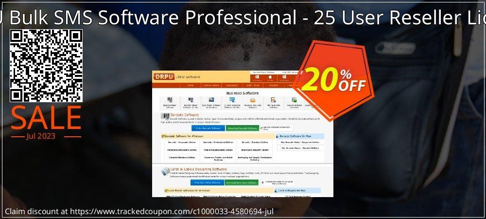 DRPU Bulk SMS Software Professional - 25 User Reseller License coupon on Easter sales
