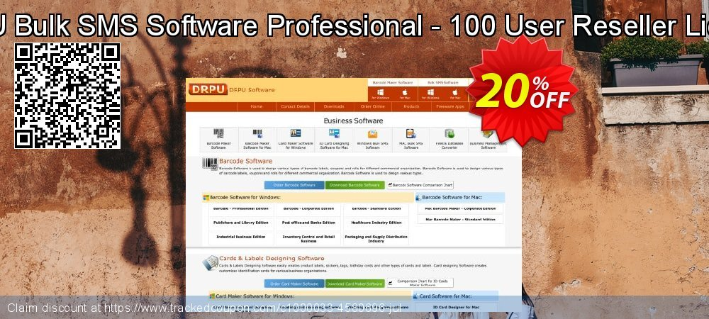 DRPU Bulk SMS Software Professional - 100 User Reseller License coupon on April Fool's Day offer