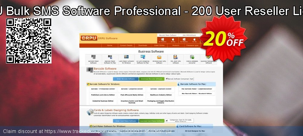 DRPU Bulk SMS Software Professional - 200 User Reseller License coupon on Easter Sunday discount