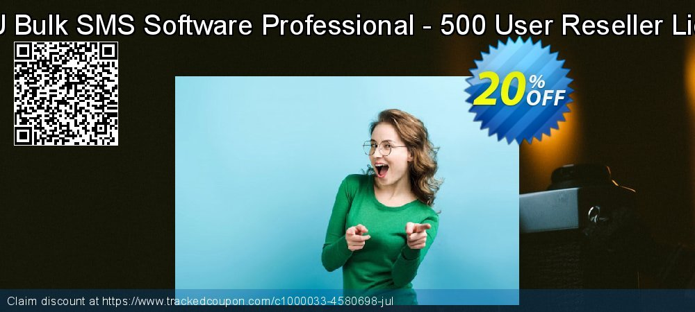 DRPU Bulk SMS Software Professional - 500 User Reseller License coupon on Easter offering discount