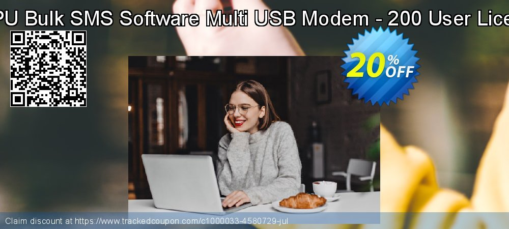 DRPU Bulk SMS Software Multi USB Modem - 200 User License coupon on Easter Sunday promotions