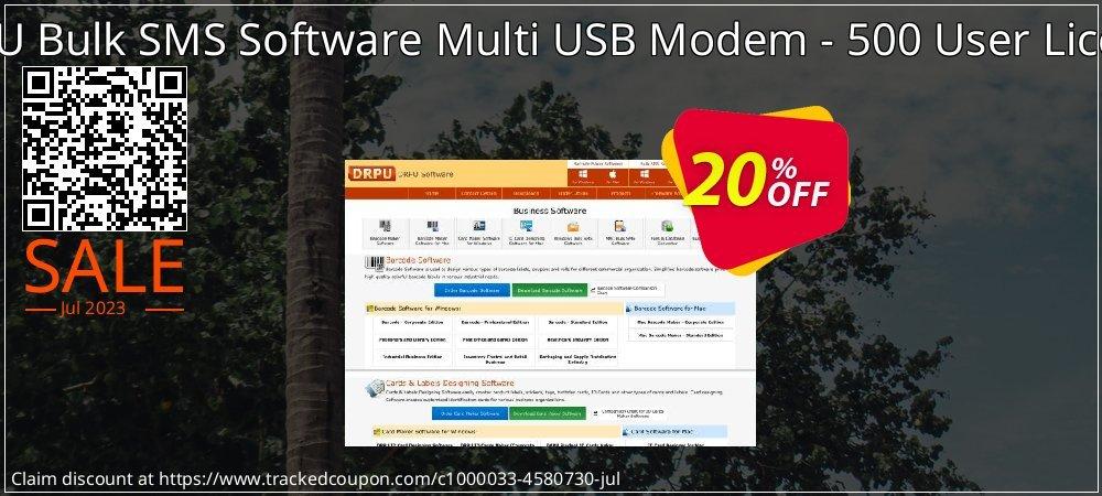 DRPU Bulk SMS Software Multi USB Modem - 500 User License coupon on Easter sales