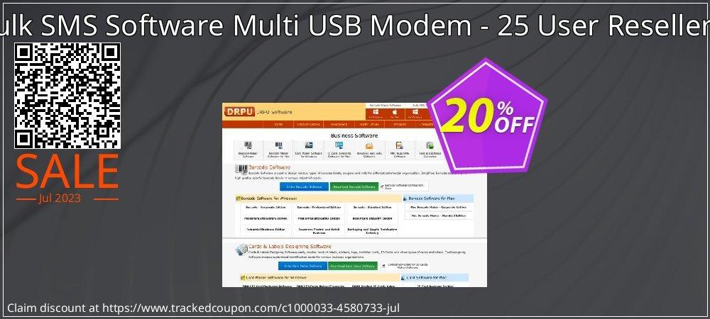 DRPU Bulk SMS Software Multi USB Modem - 25 User Reseller License coupon on Easter Sunday discount