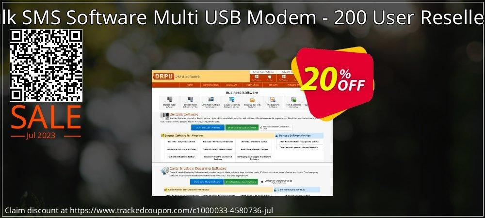 DRPU Bulk SMS Software Multi USB Modem - 200 User Reseller License coupon on April Fool's Day super sale