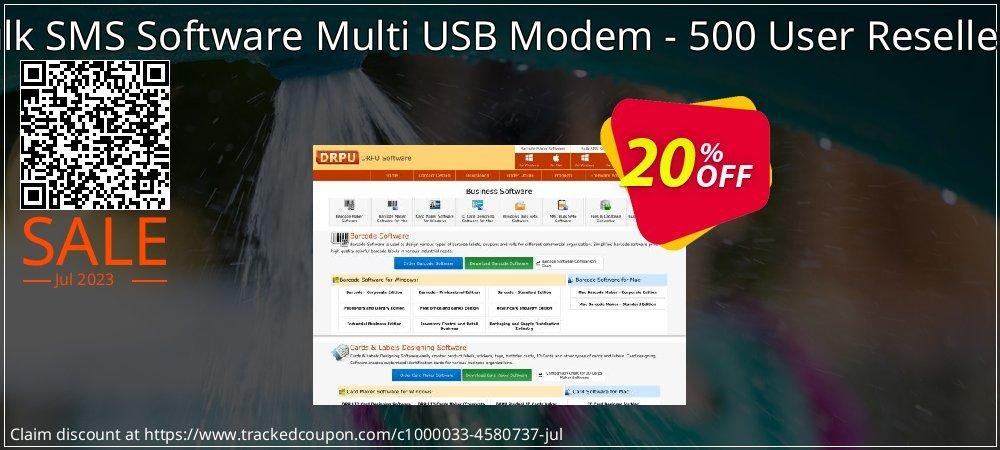 DRPU Bulk SMS Software Multi USB Modem - 500 User Reseller License coupon on Easter Sunday discounts