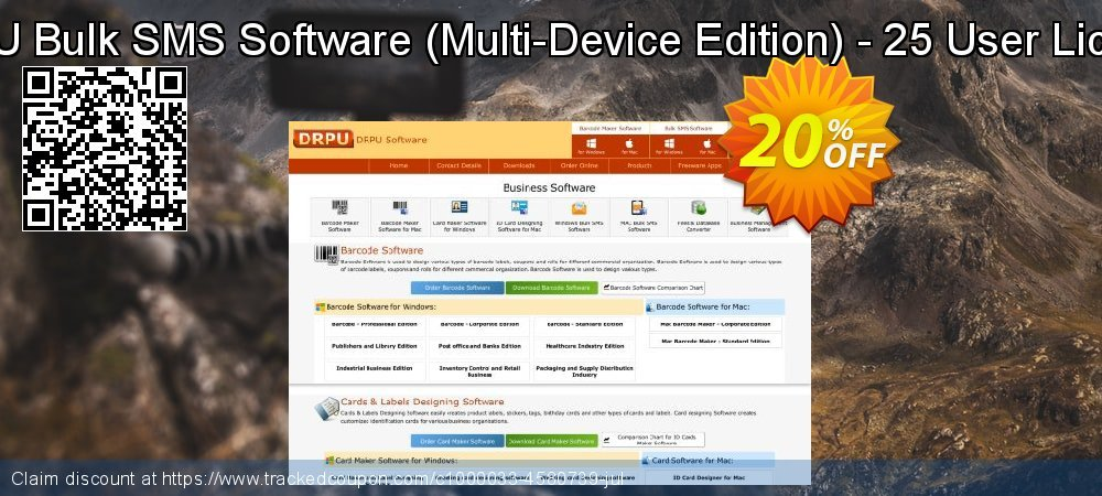 DRPU Bulk SMS Software - Multi-Device Edition - 25 User License coupon on Spring sales